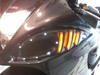 GSX-1300R 08-10 Oversized Air Scoop & with running Led light, 2/pc
