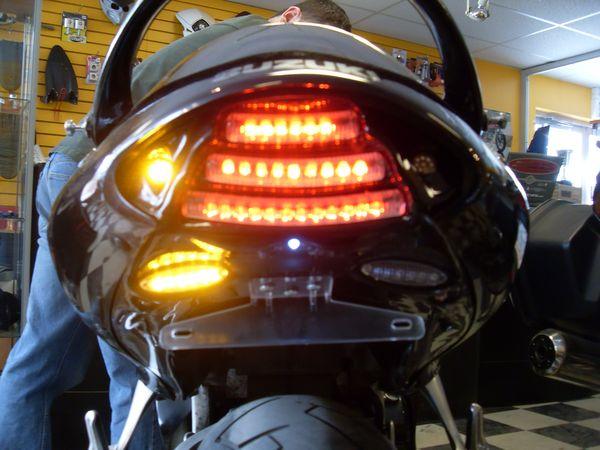 New F.I.M. Design Hayabusa Undertail (running light on / left flash on)